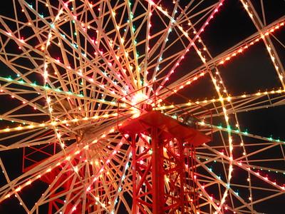 Close up of Luna Park Ferris Wheel, Sydney