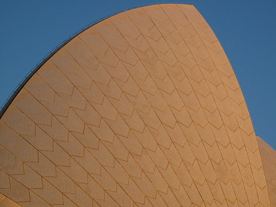 Close up of the Sydney Opera House