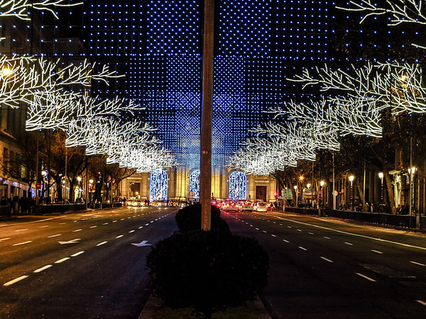 Madrid Christmas scene