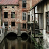 Abandoned building along the canal in Cesky Krumlov