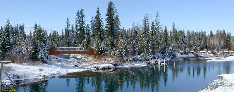 First snow in the Fall at Weaselhead, Oct 24, 2001