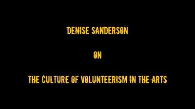 Volunteerism in the Arts