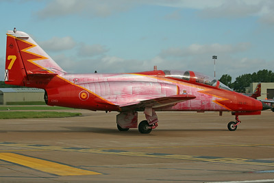 E.25-22/79-22/7 CASA 101 Spanish AF Patruilla Aguilla/Esc794 (With red smoke stains after flying displays!)
