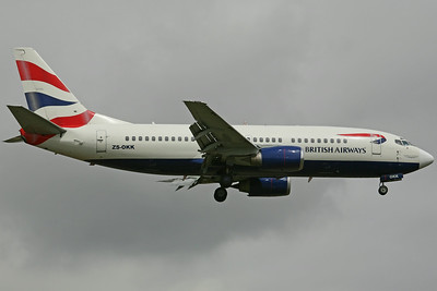 ZS-OKK B737-300 British Airways/Comair