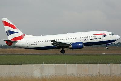 ZS-OKH B737-300 British Airways/Comair
