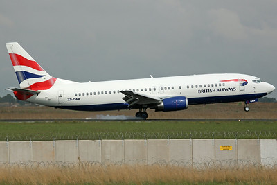 ZS-OAA B737-400 British Airways/Comair