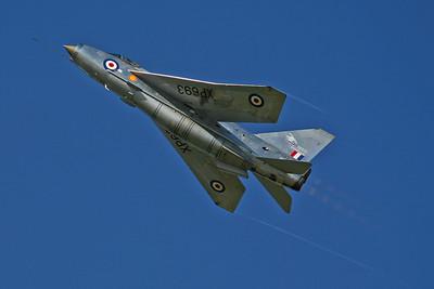 ZU-BEY/XP693 Lightning F6 RAF (Thunder City Aircraft Co). Former BAe test aircraft.