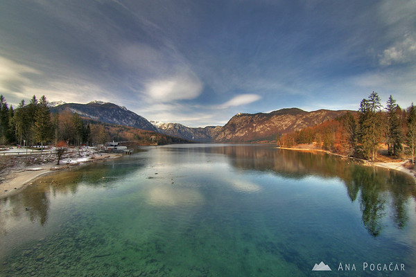 Lake Bohinj on a cold January morning