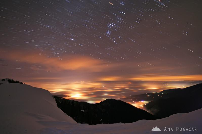 Midnight mass on Velika planina