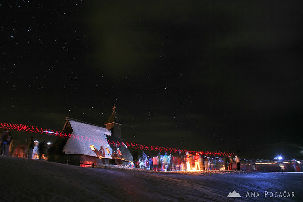 Midnight mass on Velika planina
