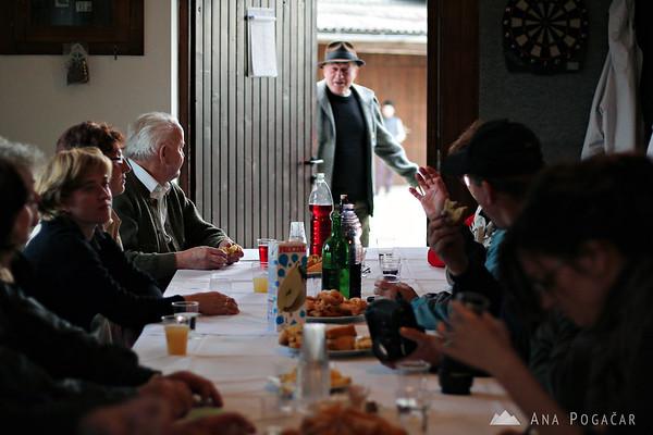 Schnapps tasting in Tunjice