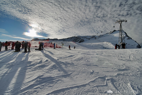 A weekend in Soelden (Austria) skiing and watching World Cup races in alpine skiing