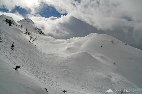 Skiing on Vogel