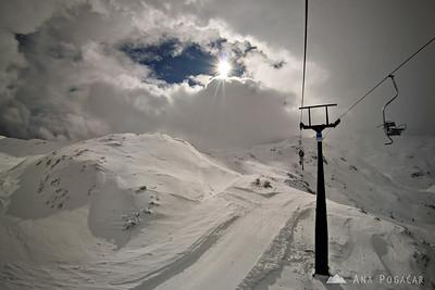 Skiing on Vogel - Mar 14, 2008