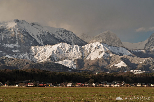 Snow around Kamnik in March