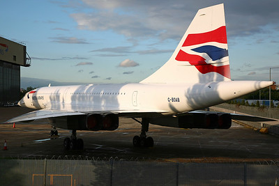 G-BOAB Concorde 102 British Airways. Parked at LHR since being retired after its final flight on 15/8/00.