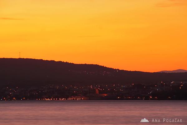 Sunset at the beach in Konobe, Island Krk