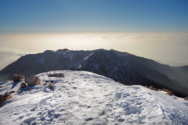 Climbing Mt. Grintovec in winter