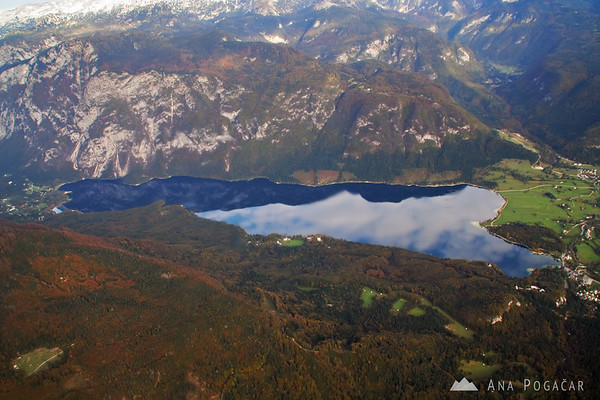 Flight over the Julian Alps - Lake Bohinj