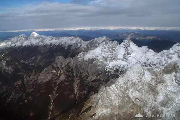 Flight over the Julian Alps