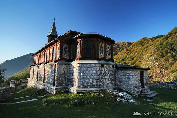 Javorca is a beautiful chapel in the mountains.