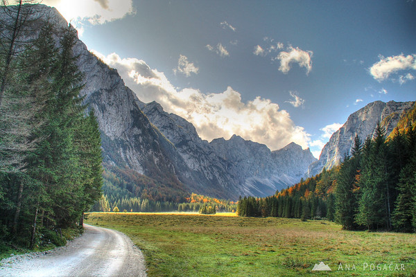 Krma valley in the Julian Alps