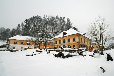 Mengeš in snow - Feb 3, 2009