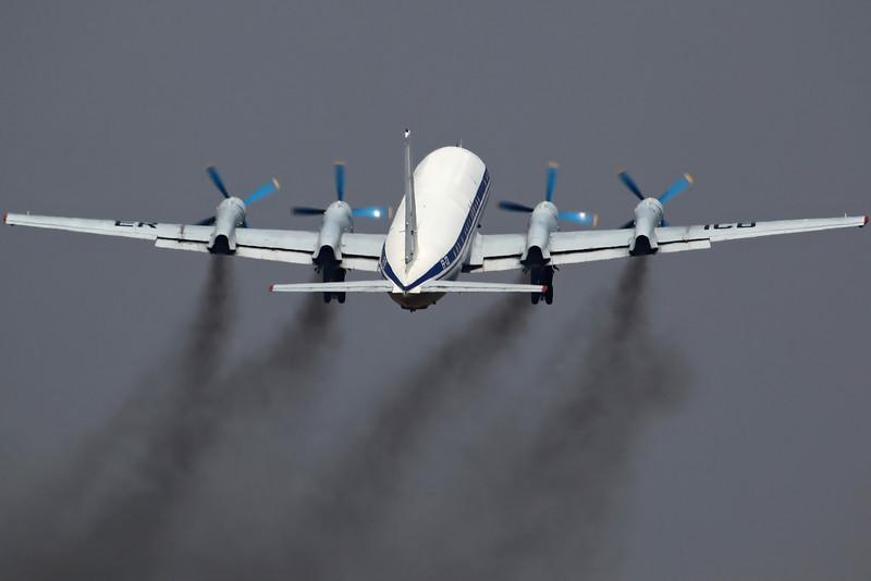 ER-ICB IL-18D Tandem-Aero. Flying Display at Balti.