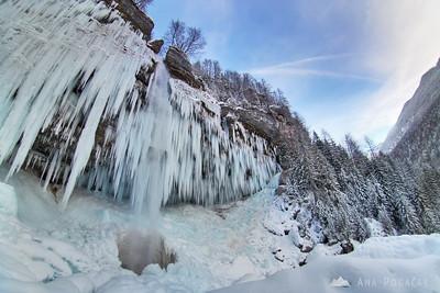 Icicles of Peričnik Waterfall - Jan 17, 2009