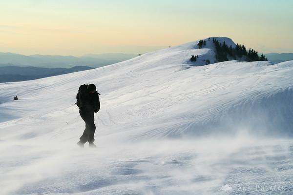 Very snowy Velika planina
