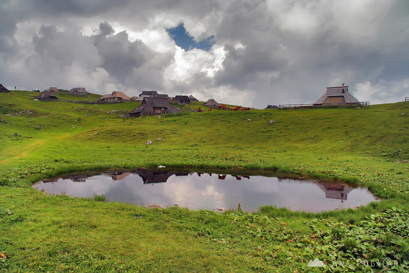Velika planina in stormy weather