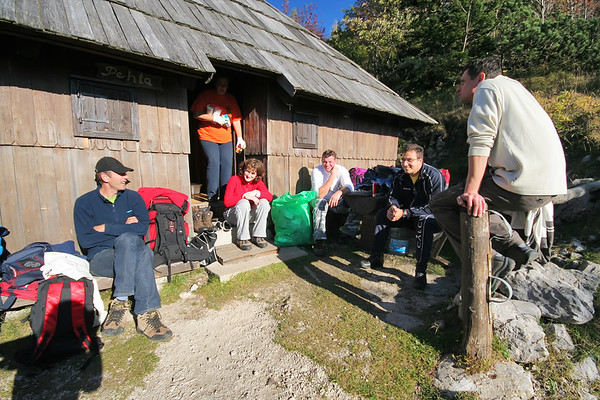 Klappa, our volleyball team, on Velika planina