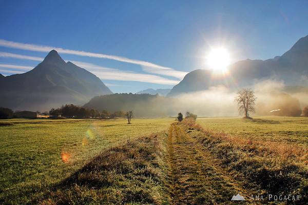 Sunrise in Bovec