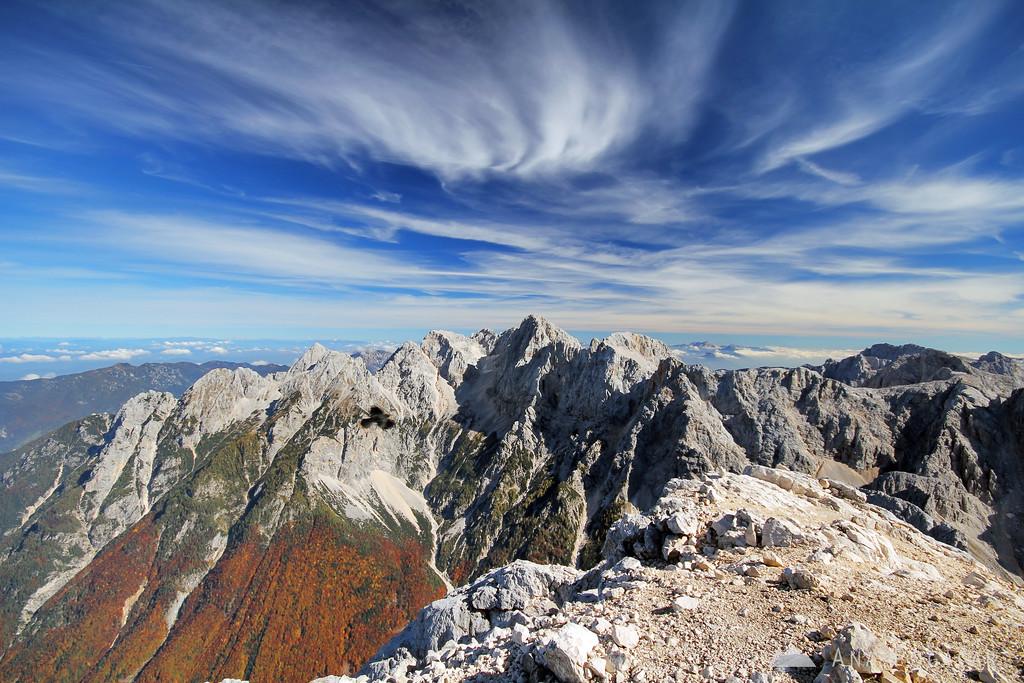 At the summit of Mt. Prisojnik