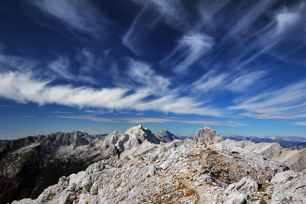 At the top ridge of Mt. Prisojnik