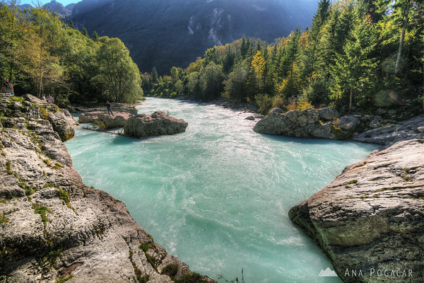 Soča river in the Trenta valley
