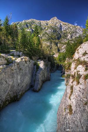 Soča river in the Trenta valley