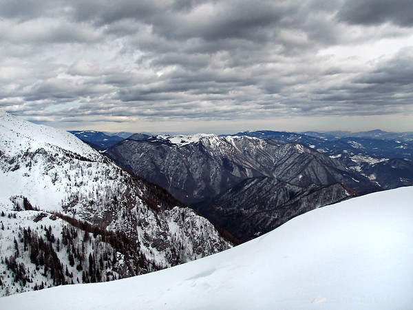 Skiing on Mt. Krvavec