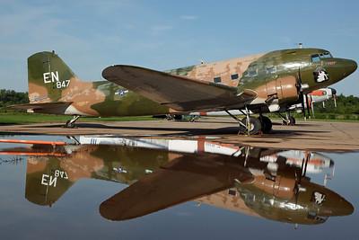 N88874/42-92847/EN DC-3C (AC-47A) USAF 'Puff' (Basler Turbo Conversions LLC), painted in Vietnam-era SEA camo.