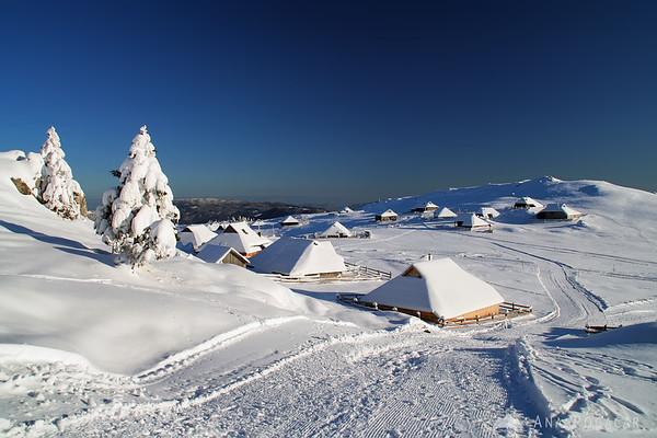 Velika planina in winter