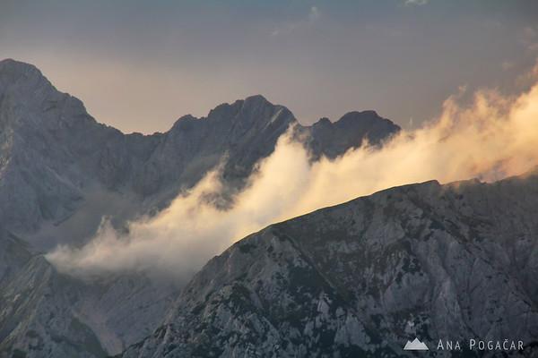 Views of the Kamnik Alps from Velika planina