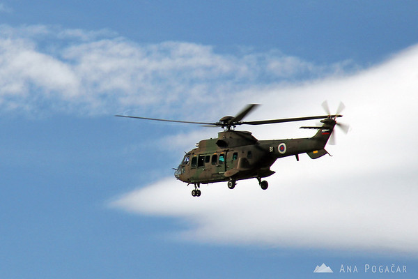 A helicopter over Mala planina