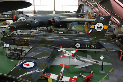A7-025 CA-30 (MB-326H) RAAF Reserve. Really A7-066, delivered in 1969 and used by 2FTS & 79Sq. Restored as A7-025 using the wings from A7-009. With Canberra Mk.20 A84-230, retired in 1983 and restored using the rear fuselage from A84-248.