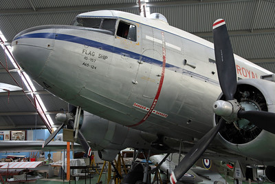 A65-124 C-47B (16960) RAAF 'Flagship'. The final C-47 delivered to the RAAF, retired and arrived here in 1980.