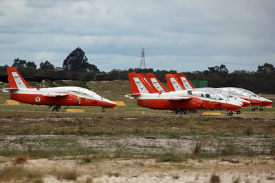9X SIAI S-211 ex Singapore AF 130Sq. Nine of the original eighteen S-211's moved here from nearby RAAF Pearce in 2009 (after being retired for PC-21's). Originaly sold to International Air Parts Group, now registered to Royston Ferris.