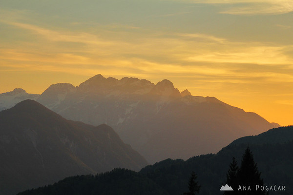 Sunset from Španov vrh