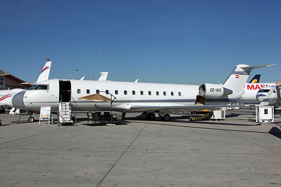 OE-IKG Challenger 850 Map Executive Flight Service