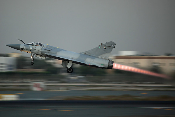 740 Mirage 2000-9EAD UAE AF 71Sq. Departing home to Al Dhafra after the airshow.