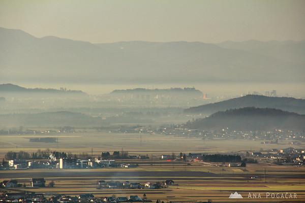 Ljubljana in the distance