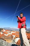 Sebastian at Mali grad above Kamnik